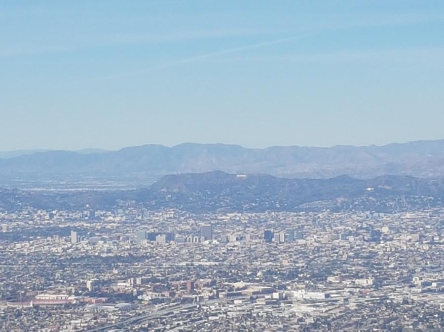 Fatta Ieri Atterrando A Los Angeles Sullo Sfondo Vedete La Collina